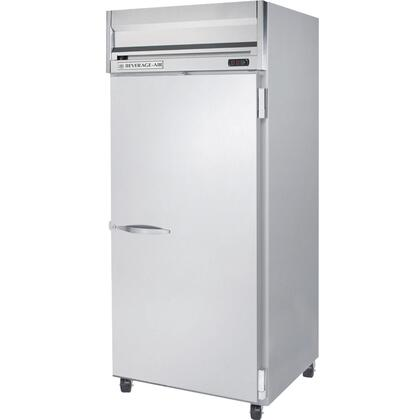Beverage-Air HRPS1W-1 Horizon Series One Wide Section [Solid Door] Reach-In Refrigerator, 34 cu.ft. capacity, Stainless Steel Exterior and Interior