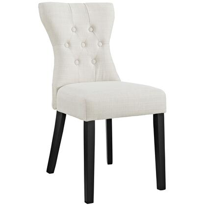 Modway EEI1380BEI Silhouette Series Modern Fabric Wood Frame Dining Room Chair