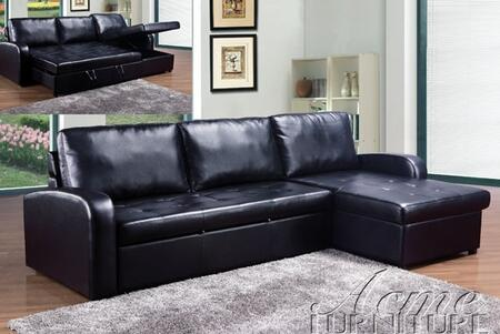 Acme Furniture 50185 Hanley Series Sectional Sofa Leather Sofa