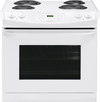"""Frigidaire FFED3015PW 30"""" Drop-In Electric Range with Coil Element Cooktop, 4.6 cu. ft. Primary Oven Capacity, in White"""