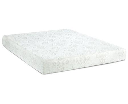 """Enso HAMPTON Hampton 8"""" Mattress with 2"""" Layer Airflow Pressure Relief Foam, 6"""" Durable Base, Polyester Knit Removal Cover and Memory Foam/Gel in White"""