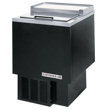 GF24L Glass Froster in [Color] with One Solid Self-closing Door with Locks, Two Dividers