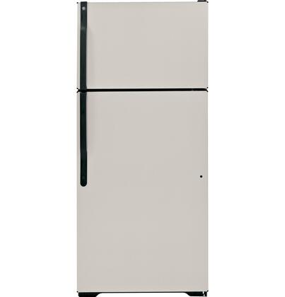 GE GTJ18CBDSA Freestanding Top Freezer Refrigerator with 18.1 cu. ft. Total Capacity 2 Wire Shelves 4.22 cu. ft. Freezer Capacity