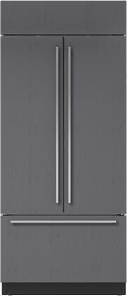 """Sub-Zero BI-36UFDIDX 36"""" Built-In French Door Refrigerator with Internal Water Dispenser, 21 cu. ft. Capacity, Automatic Ice Maker, and Air Purification System, in"""