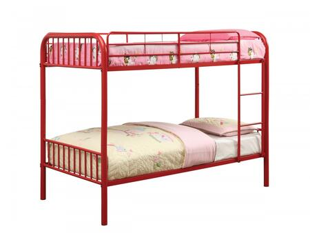 Furniture of America CMBK1035RD Rainbow Series  Twin Size Bunk Bed