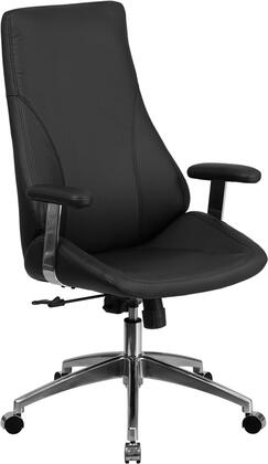 Flash Furniture BT90068HXGG High Back Leather Executive Swivel Office Chair