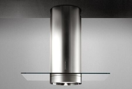 """Falmec FDPLR15x5SS 36"""" Design Collection Polar Range Hood with 500 CFM, Stainless Steel Filters, LED Lighting and Backlit Electronic Controls in Stainless Steel"""