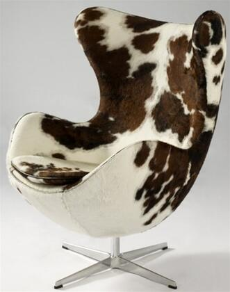 Fine Mod Imports FMI9238BROWN Inner Series Pony Hide Molder Fiberglass Frame Accent Chair