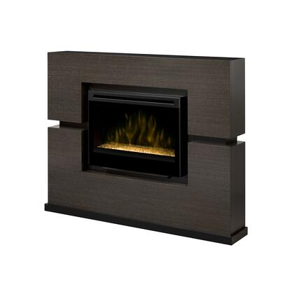 Dimplex GDS33-1310 Linwood Electric Fireplace, with Realistic Flame Technology, Cool Glass Front, Remote Control, and Contemporary Style, in Grey