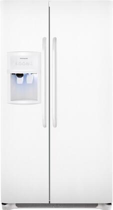 "Frigidaire FFHS2622MW 36""  Side by Side Refrigerator with 25.54 cu. ft. Capacity in White"