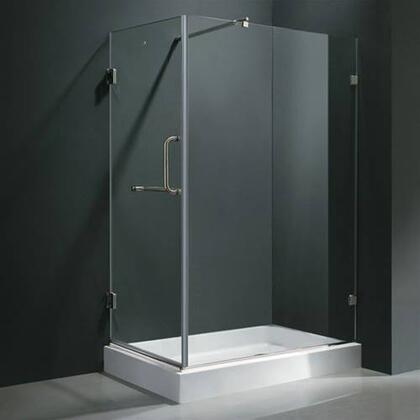 "Vigo VG6012XXCL36WR 36"" x 48"" Frameless 3/8"" Shower Enclosure with Right Base:"