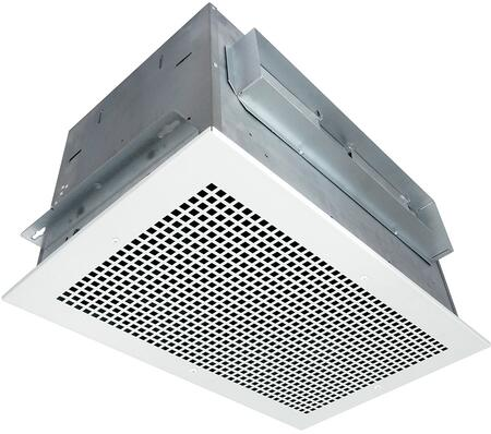 Air King AKx Exhaust Fan with x CFM, 22 Gauge Galvanized Steel Housing, and Metal Grill, in White