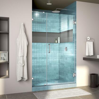 DreamLine Unidoor Lux Shower Door RS30 30D 14IP 01 Blue Tile