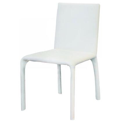 VIG Furniture VGGUHY142CHWHT Modern Leather Dining Room Chair