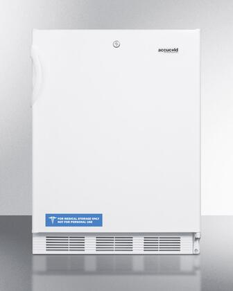 "Summit VT65ML7BIADA24"" Freestanding Upright Counter Depth Freezer"