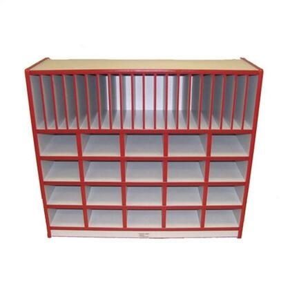Mahar M60450 20 Cubbie Unit With Vertical Letter Slots without Trays in Maple Finish with Edge Color
