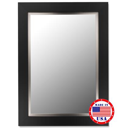 Hitchcock Butterfield 26220X Cameo  Mirror in Super Nuevo Black Satin Finish with Stainless Liner