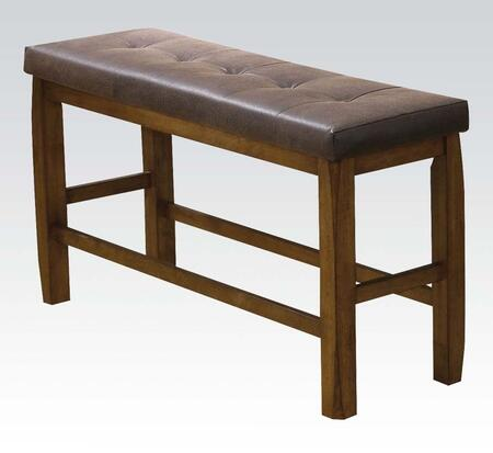 Acme Furniture 00847 Morrison Series Kitchen Armless Wood Faux Leather Bench