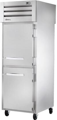 True STA1RPT-2HS Spec Series Pass-Thru Refrigerator with 31 Cu. Ft. Capacity, LED Lighting, and Solid Half Front and Glass Rear Swing-Doors
