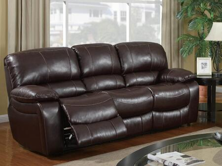 Global Furniture USA U8122Burgundy950S  Bonded Leather Sofa