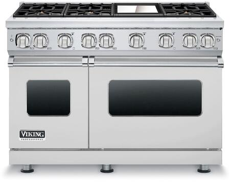 """Viking VGR7486G 48"""" Professional 7 Series Freestanding Range with 6 Sealed Burners and Griddle, SureSpark Ignition System and VariSimmer Setting, in"""