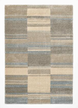 Citak Rugs 2610-025X Bellevue Collection - Turf - Beige/Sky