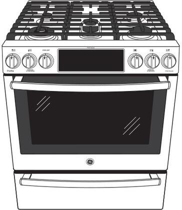ge profile pgs930belts 30 inch slidein gas range with sealed burner cooktop 56 cu ft primary oven capacity storage in black stainless steel