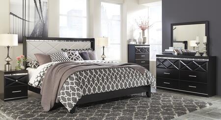 Milo Italia BR5185658DMC2N Barron King Bedroom Sets