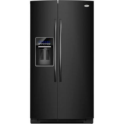 "Whirlpool GSC25C4EYB Freestanding 24.5 cu. ft. 10 cu. ft. Yes 35.4375"" Side by Side Refrigerator 