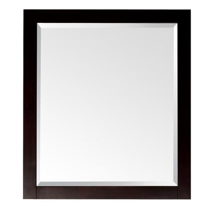 """Avanity Lexington LEXINGTON-MX-LE X"""" Mirror with Birch Solid Wood Frame, Beveled-Edge, Hanged Horizontally or Vertically, and Wood Cleat at Back for Easy Hanging in a Light Espresso Finish"""