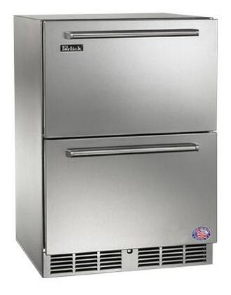 "Perlick HP24Z -Use 24"" Signature Series 5 cu.ft. Capacity, Dual-Zone, Counter Depth Stainless Steel Drawer Freezer/Refrigerator with"