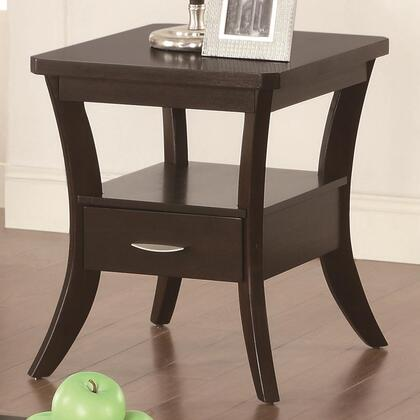 Coaster 702507 Occasional Group Series Contemporary Rectangular 1 Drawers End Table