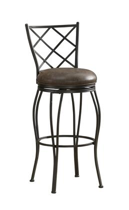 American Heritage 11111 Ava Series Stool with Metallic Frame and Bonded Leather Upholstery in Coco