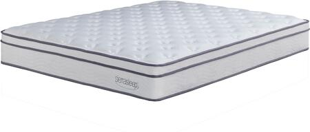 Sierra Sleep Longs Peak Limited Plush M907 Mattress with Luxury Fiber Barrier, High Density Quilt Foam and 15 Gauge Pocketed Coils in White