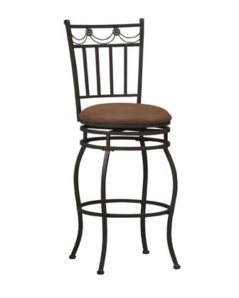 Linon 02761MTL01KDU Swag Series Commircial or Residential Fabric Upholstered Bar Stool
