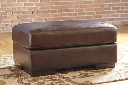 "Milo Italia Caiden Collection 39"" Ottoman with Jumbo Stitching, Hardwood Construction and Leather Upholstery in Color"