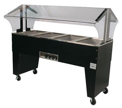 Advance Tabco B4-240-B Four-Well Portable Hot Food Buffet Table