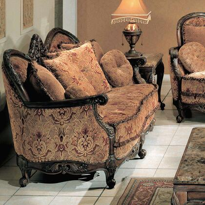 Yuan Tai NA2033L Natalie Series Fabric Loveseat with Wood Frame Loveseat