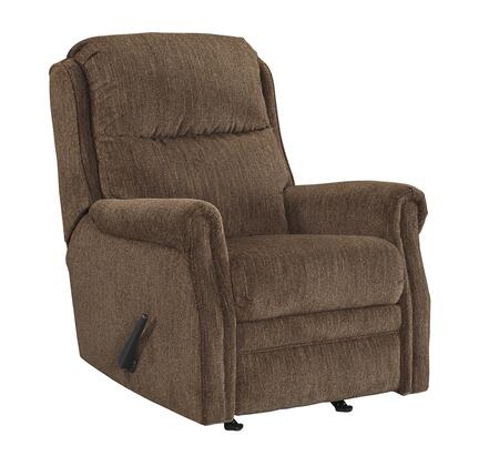 """Milo Italia Capella Collection MI-3460-11-TMP 31"""" Rocker Recliner with Rolled Arms, Textural Woven Fabric Upholstery and Stitching Detail in"""