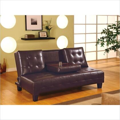 Coaster 300153  Convertible Faux Leather Sofa