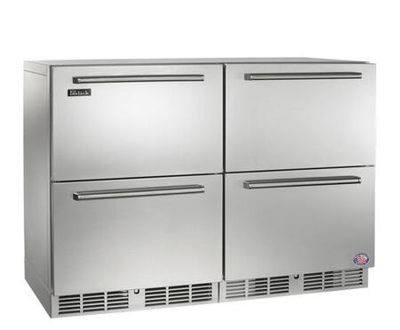 Perlick HP48FRS55 Signature Series Counter Depth Side by Side Refrigerator with 11 cu. ft. Capacity in Stainless Steel
