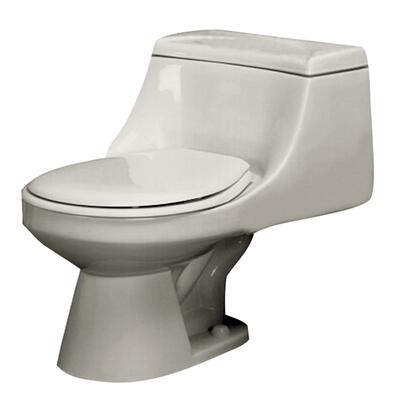 Barclay 2-140 Vogue 1.6 gpf Round Front Toilet, with Syphon Jet Flush, Easy Push Button Flush, and Glazed Trapway