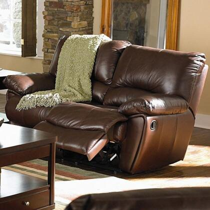 Coaster 600282 Clifford Series Leather Reclining with Wood Frame Loveseat