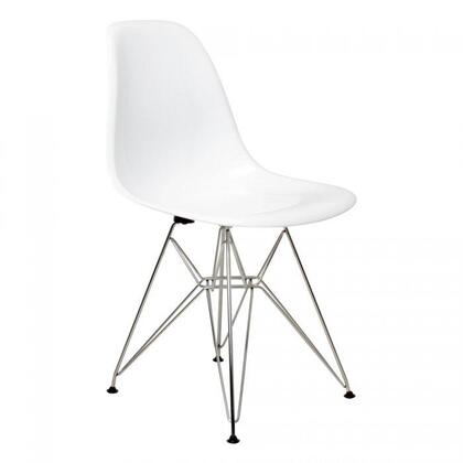 Fine Mod Imports FMI2011 Modern Not Upholstered ABS/Steel Frame Dining Room Chair