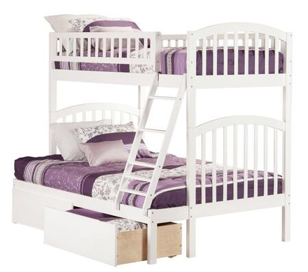 Atlantic Furniture Richland AB6424  Twin Over Full Bunk Bed With Urban Bed Drawers