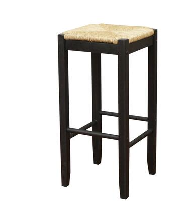 "American Heritage Rattan Series 124883 24"" Backless Wooden Counter Stool with Comfortable Seat and 1 Year Manufacturers Warranty"