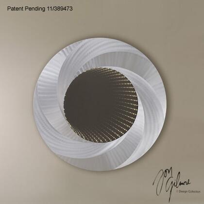Nova IFM4200X Vortex Infinity Wall Mirror in Brushed Aluminum