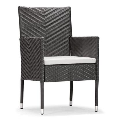 Zuo 701363 Catalan Series  Synthetic Weave w/ Aluminum Frame  Patio Chair