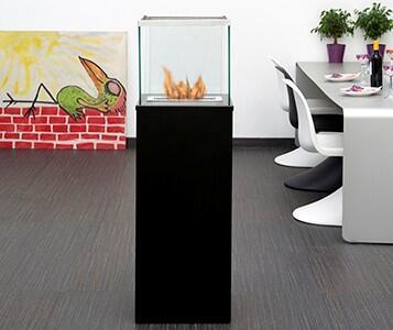 Bio-Blaze BBCW Column Series Vent Free Bioethanol Fireplace