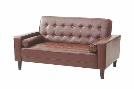 "Glory Furniture G800 Collection 60"" Loveseat Bed with Track Arms, Button Tufted Cushions, Tapered Legs, Removable Back/Arms and Upholstery"